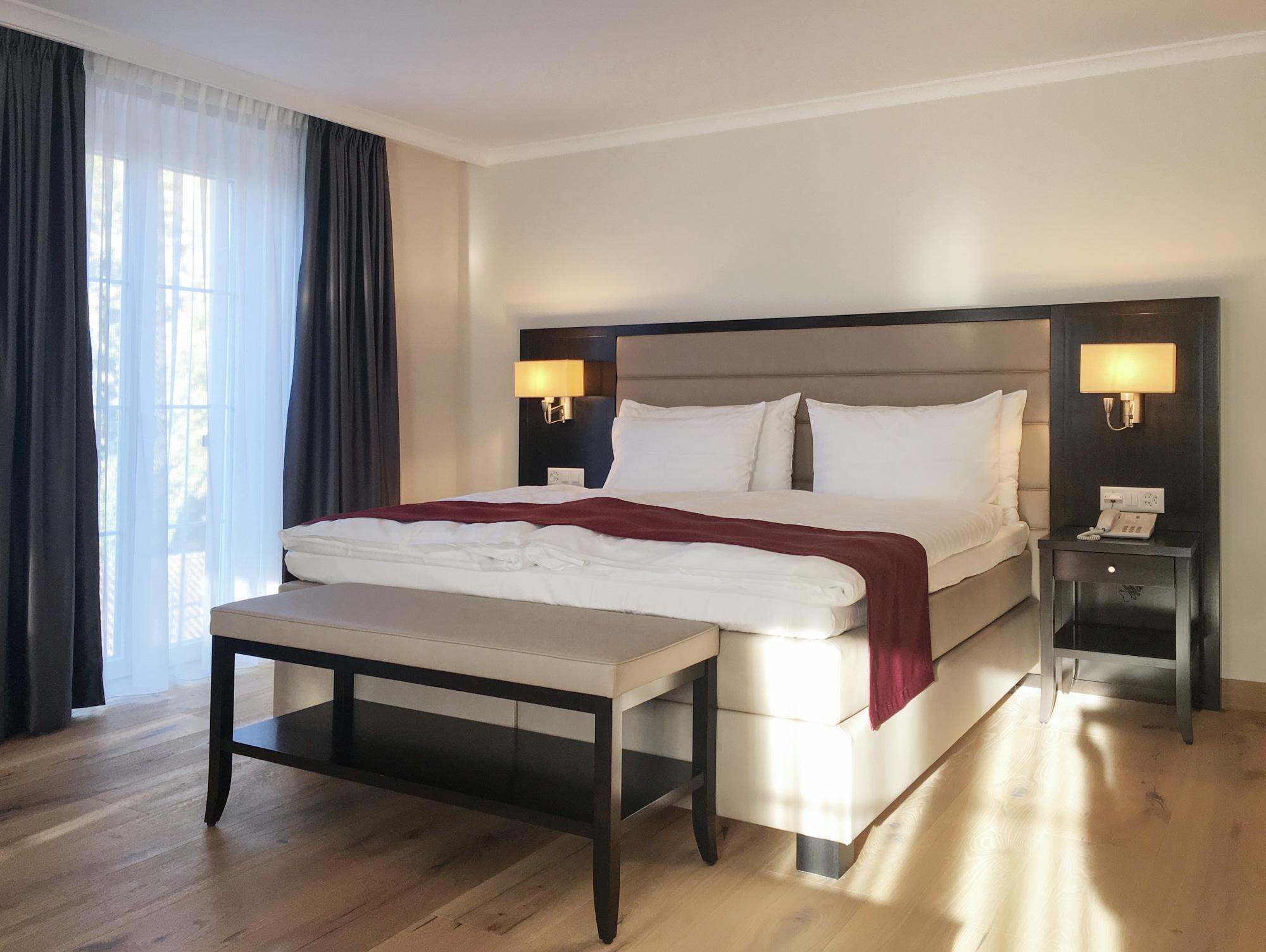 aménagement chambre Hôtel La Prairie Yverdon-les-Bains
