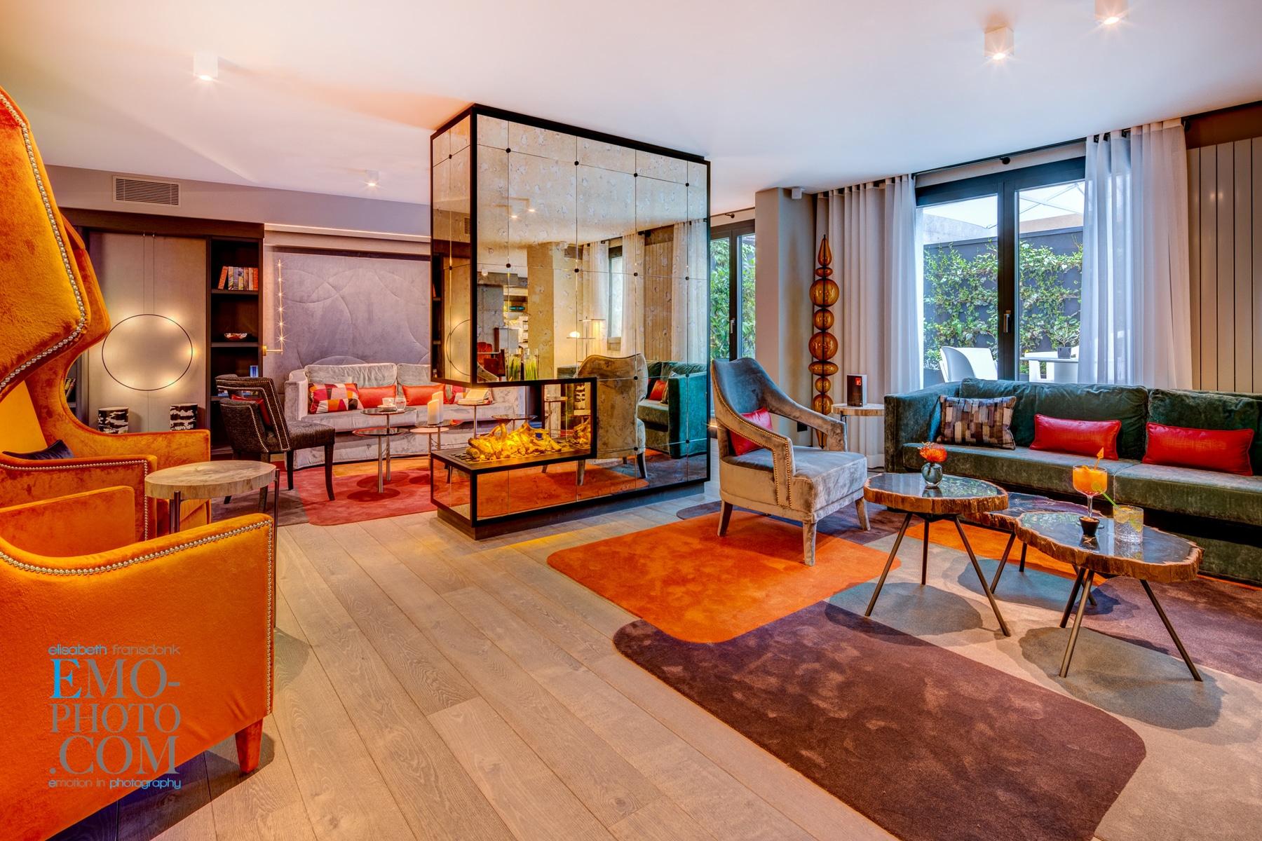 Layout della hall Hotel Design F6 Ginevra