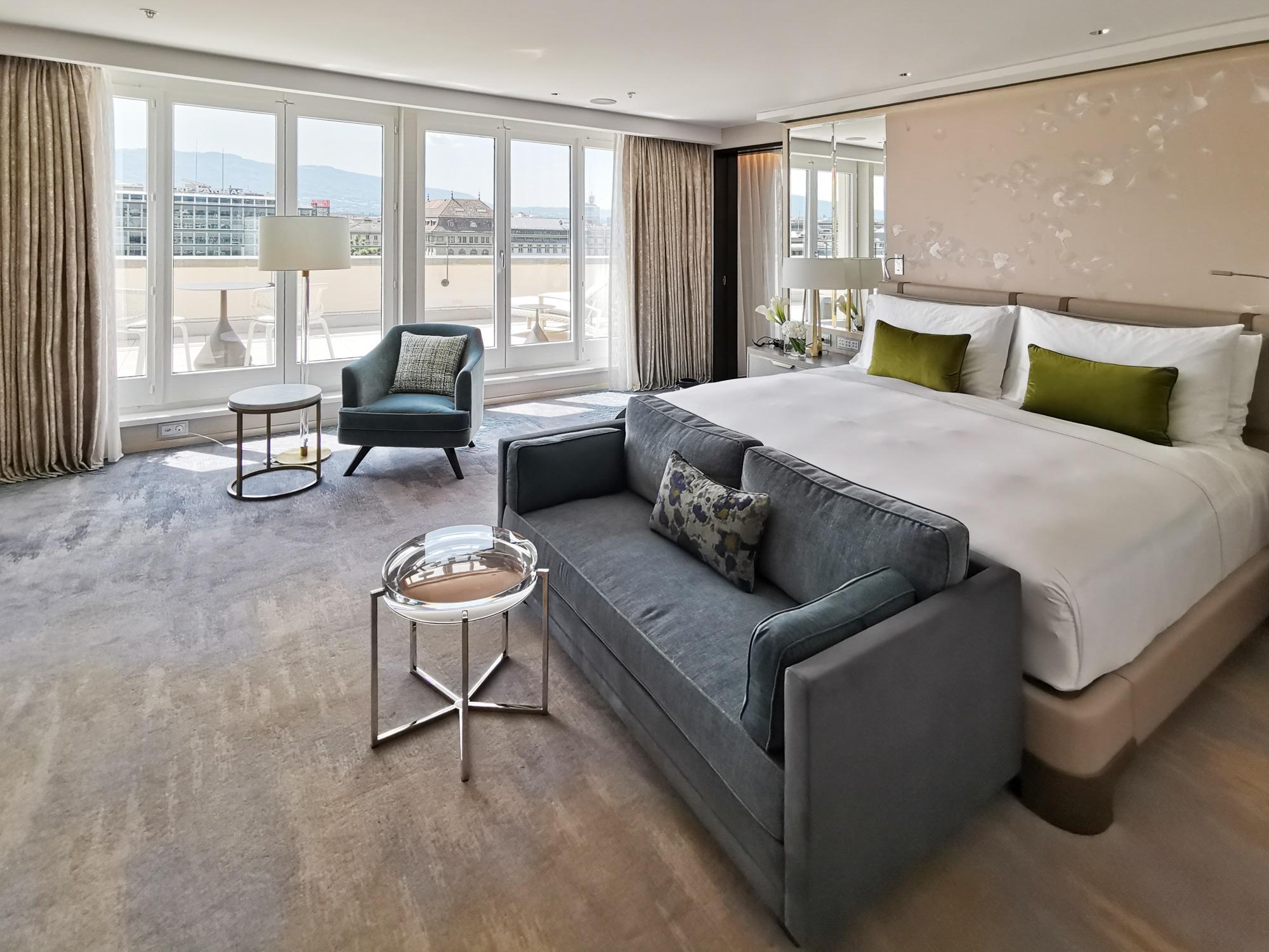 aménagement Royal Penthouse Hôtel Mandarin Oriental Genève