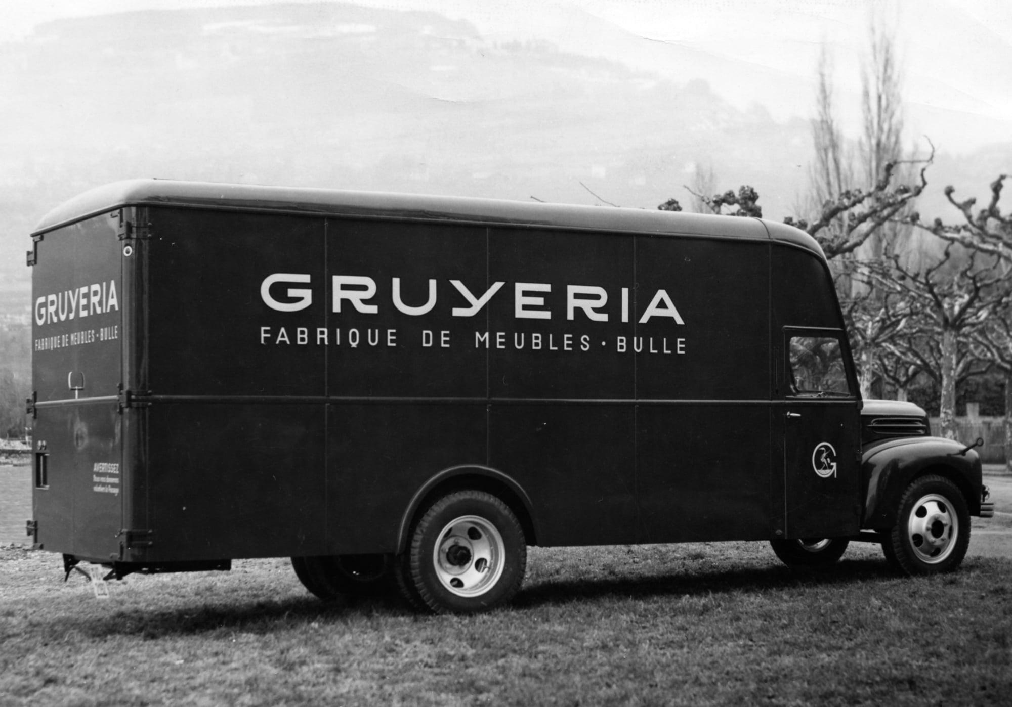 ancien camion Gruyeria Bulle